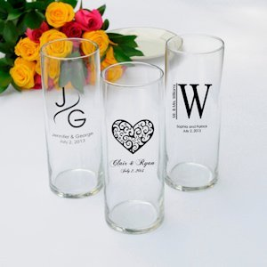 Personalized Monogram Favor Vases (Set of 6) image