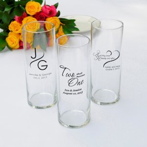 Personalized Romance Favor Vases Set Of 6