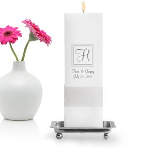 Square Customized Unity Candles (Many Designs) image