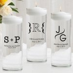 Monogram Floating Unity Candle & Unity Candle Set