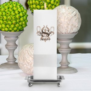 Royal Allure Personalized Square Unity Candle image
