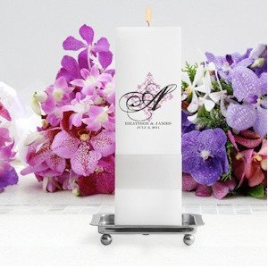 Perfect Panache Personalized Square Unity Candle image
