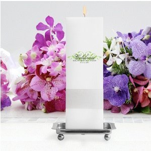 Charming Celebration Personalized Square Unity Candle image