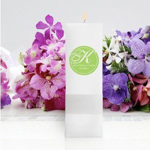 Modern Square Monogrammed Unity Candle image