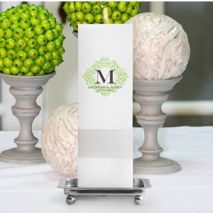 Fresh Floral Personalized Square Unity Candle image