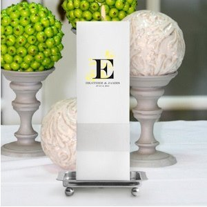 Nature's Bliss Personalized Square Unity Candle image