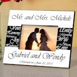 Personalized Mr. & Mrs. Wedding Photo Frame