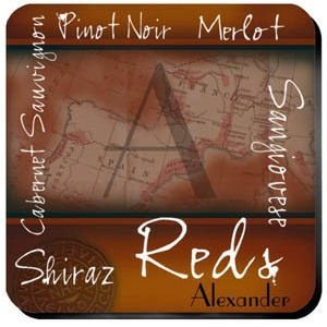 Personalized Red Wine Coaster Set image