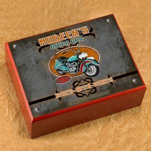 Personalized Biker Bar Cigar Humidor image