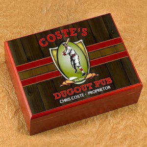 Personalized Dugout Pub Cigar Humidor image