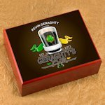Personalized Irish Pub Cigar Humidor