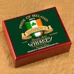 Personalized Irish Whiskey Cigar Humidor