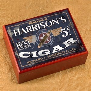 Personalized Patriot Cigar Humidor image