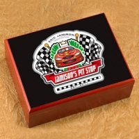 Personalized Racing Cigar Humidor