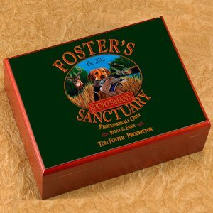 Personalized Sportsman Cigar Humidor image