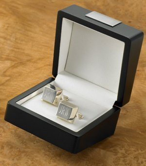 Personalized Sterling Silver Plated Cuff Links image