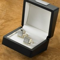 Personalized Sterling Silver Plated Cuff Links