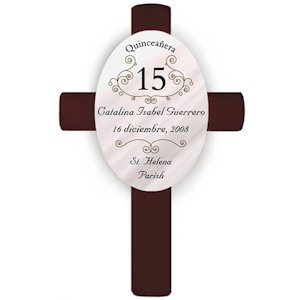 Personalized Quinceanera Cross image