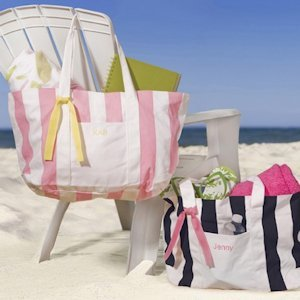 Personalized Candy Striped Tote Bag image
