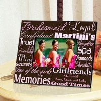Personalized Bridesmaid Picture Frames (7 color choices)