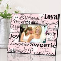 Personalized Junior Bridesmaid Frames - 7 Designs