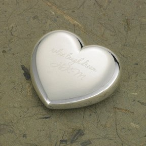 Engraved Heart Shaped Paperweight image