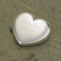Engraved Heart Shaped Paperweight