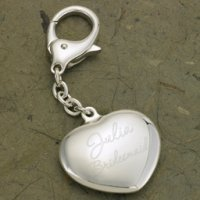 Key To My Heart Personalized Silver Plated Key Chain