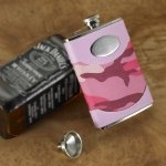 Personalized Pink Camo Flask