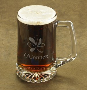 Personalized Shamrock Beer Mug image
