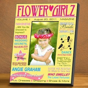 Personalized Flower Girl Magazine Frame (2 Designs) image