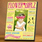 Personalized Flower Girl Magazine Frame (2 Designs)