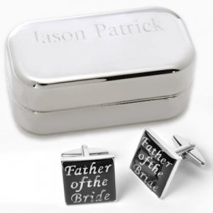 Father of the Bride Cufflinks with Personalized Case image