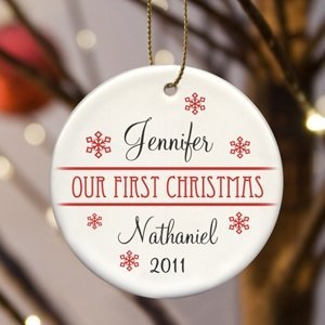 Personalized Our First Christmas Ornament (8 Designs) image