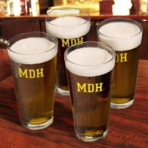 Monogrammed Pint Glass Set (3 Designs - 10 Colors) image