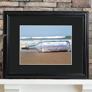 Message in a Bottle Personalized Framed Print image