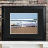 Message in a Bottle Personalized Framed Print