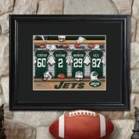 Personalized Framed NFL Locker Room Print