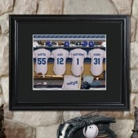 Personalized Framed MLB Clubhouse Print