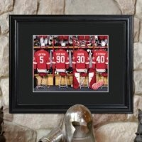 Personalized Framed NHL Locker Room Print