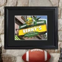 Personalized Framed NFL Pub Print