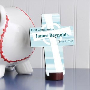 Personalized Celtic Blessings First Communion Cross image