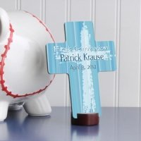 Personalized Blue First Communion Cross