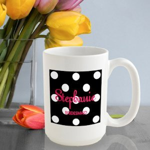 Personalized Polka Dot Mugs - 6 Colors image