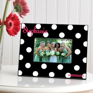 Personalized Dots Bridal Party Picture Frames (6 Colors) image
