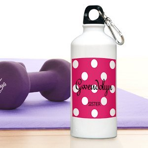 Personalized Polka Dot Water Bottles - 6 Colors image