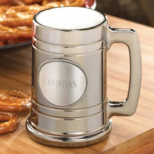 Gunmetal Mug with Personalized Pewter Medallion image