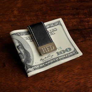 Personalized Leather Money Clip image