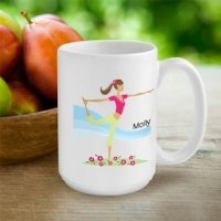 Personalized 'Go-Girl' Active Coffee Cup (Many Designs)