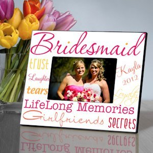 Kaleidoscope Personalized Bridesmaid Frames - 7 Colors image